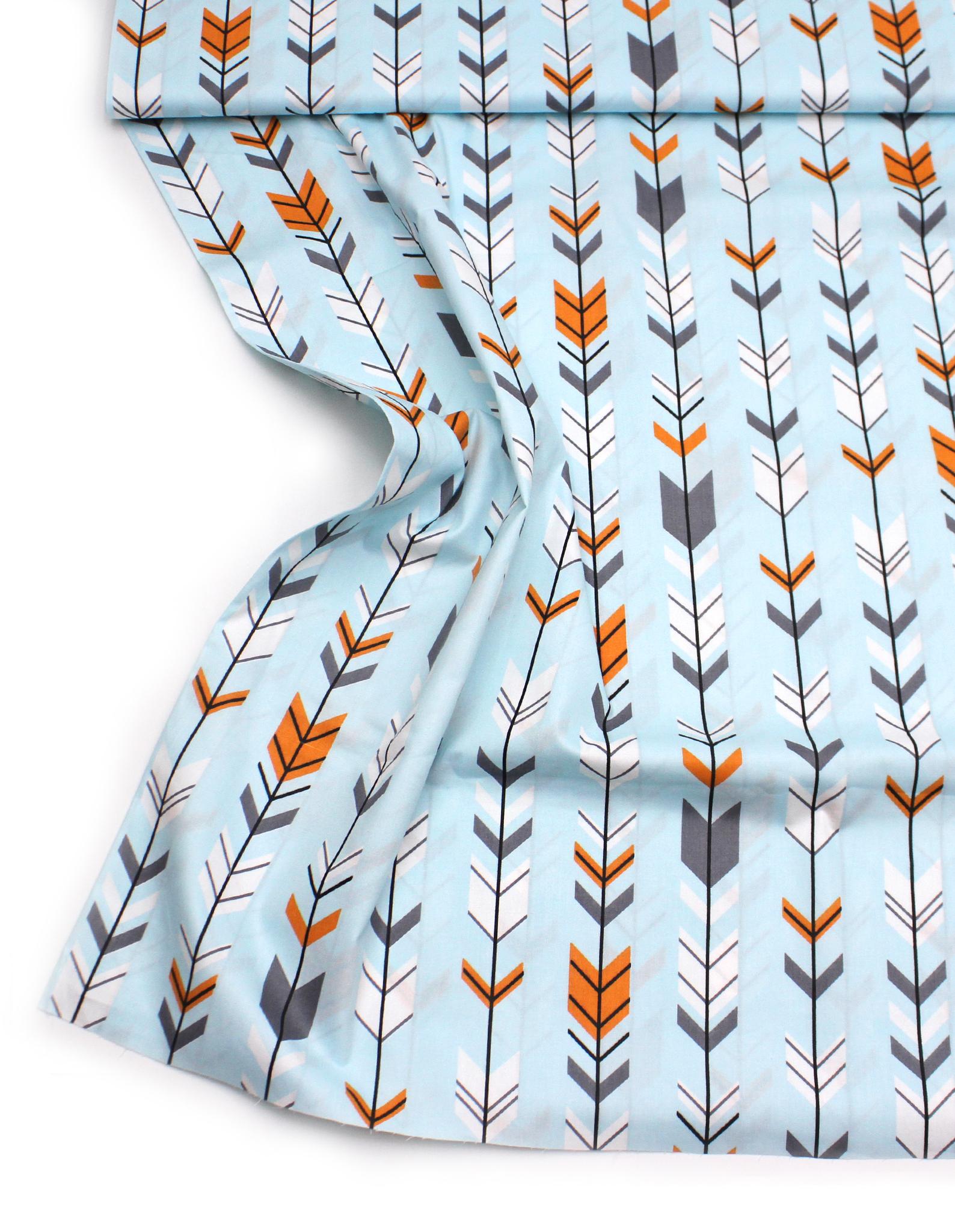 Стрелки серо-оранж на голубом
