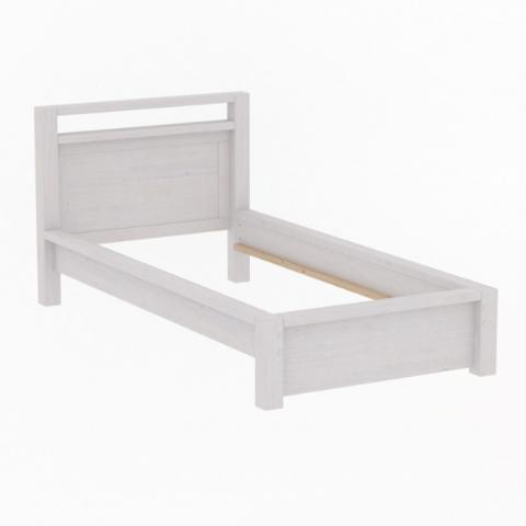Кровать односпальная 90х200 Фьорд (белый воск)