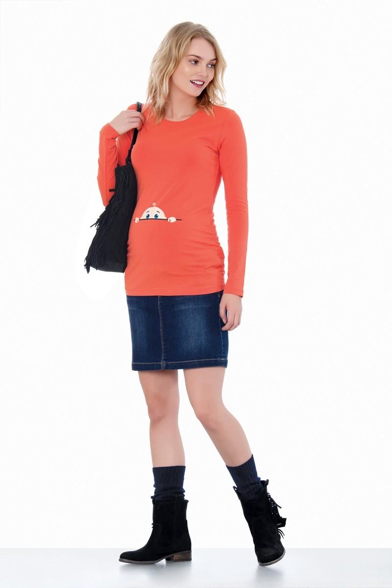 Футболка для беременных 07342 оранжевый