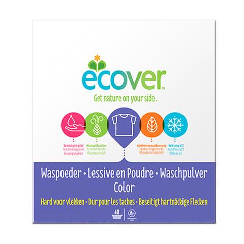 ECOVER экологический стиральный порошок КОНЦЕНТРАТ для цветного белья, 3 кг.