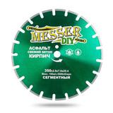 Алмазный сегментный диск MESSER-DIY диаметр 350 мм для резки асфальта, свежего бетона и кирпича