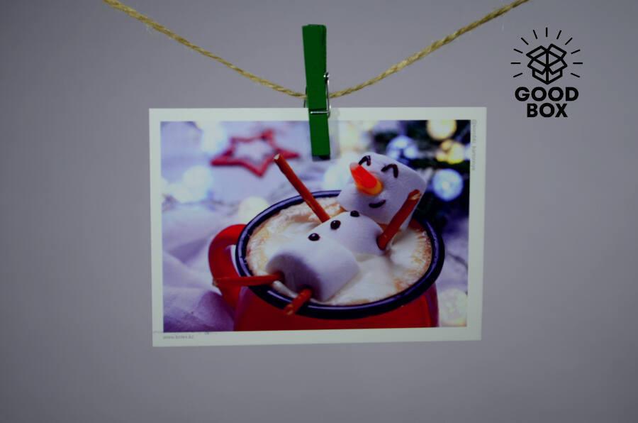 Новогодняя подарочная открытка купить в Алматы