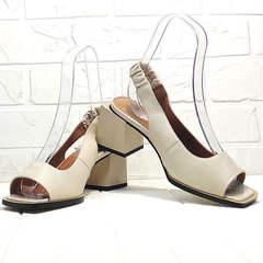 Женские босоножки с квадратным носком Brocoli H150-9137-2234 Cream