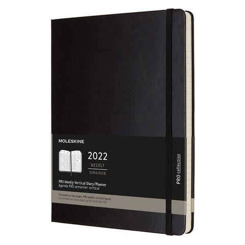 Еженедельник Moleskine (DHB12PRO4) Pro Vertical XL 190х250мм 264стр. черный