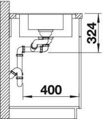 Мойка кухонная Blanco Metra 6S-F - вид сбоку