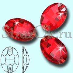 Стразы пришивные стеклянные Oval Light Siam, Овал Лайт Сиам, светло-красный на StrazOK.ru