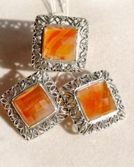 Этюд (кольцо + серьги из серебра)