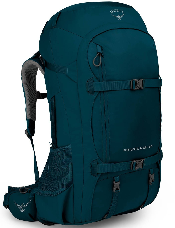 Туристические рюкзаки Рюкзак Osprey Farpoint Trek 55 Black Farpoint_Trek_55_F19_Side_Petrol_Blue_web.jpg