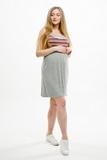 Платье для беременных и кормящих 08561 серый