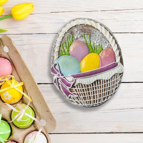 Фотография Пряник «Корзинка с яйцами» / 100 гр купить в магазине Афлора