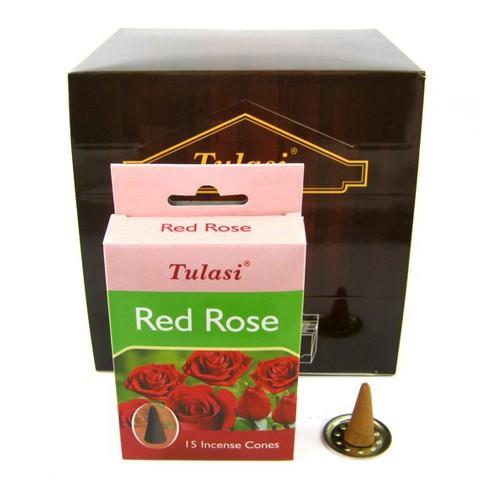 Благовония Sarathi Cones Red Rose Роза