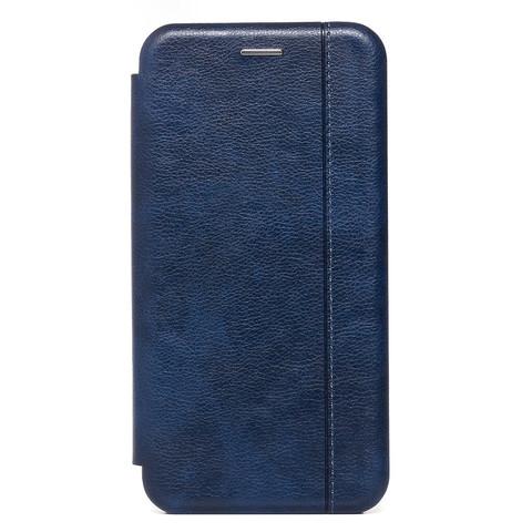 Чехол книжка для iPhone 12 Pro Max   магнит подставка синий
