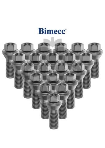 Болт колёсный М15x1.25 длина=30мм ключ=17мм конус цинк BIMECC PS17Q30-MW-ZN