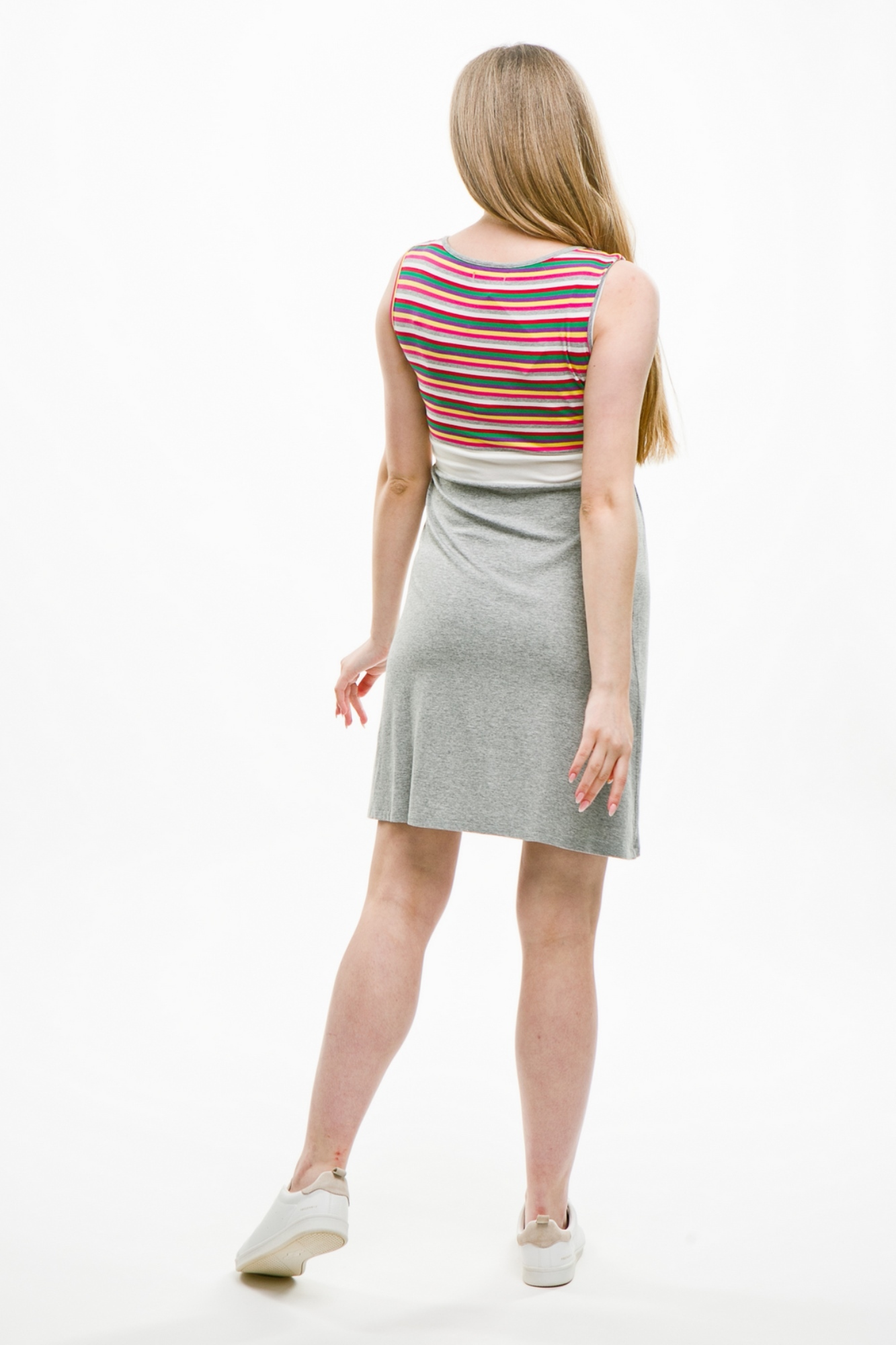Фото платье для беременных и кормящих MAMA`S FANTASY от магазина СкороМама, серый, размеры.