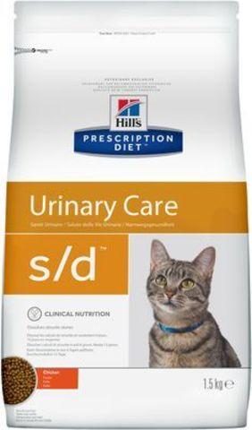 9189  ХИЛЛc ДИЕТА сух.д/кошек S/D лечение МКБ (струвиты) 1,5кг*6