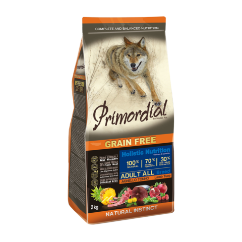 Primordial Сухой корм для собак с тунцом и ягненком (беззерновой)