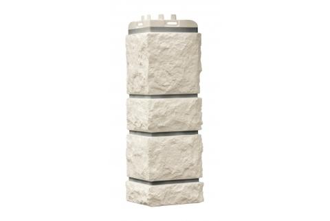 Наружные углы к фасадным панелям GRAND LINE Сланец Стандарт Молочный