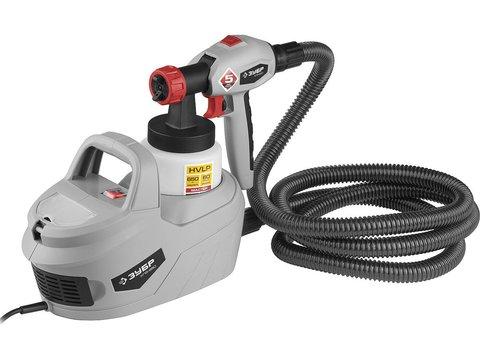 Краскопульт (краскораспылитель) электрич, ЗУБР КПЭ-650, HVLP, 0.8л, краскоперенос 0-700мл/мин, вязкость краски 60 DIN/сек, сопло 1.8мм, 650Вт