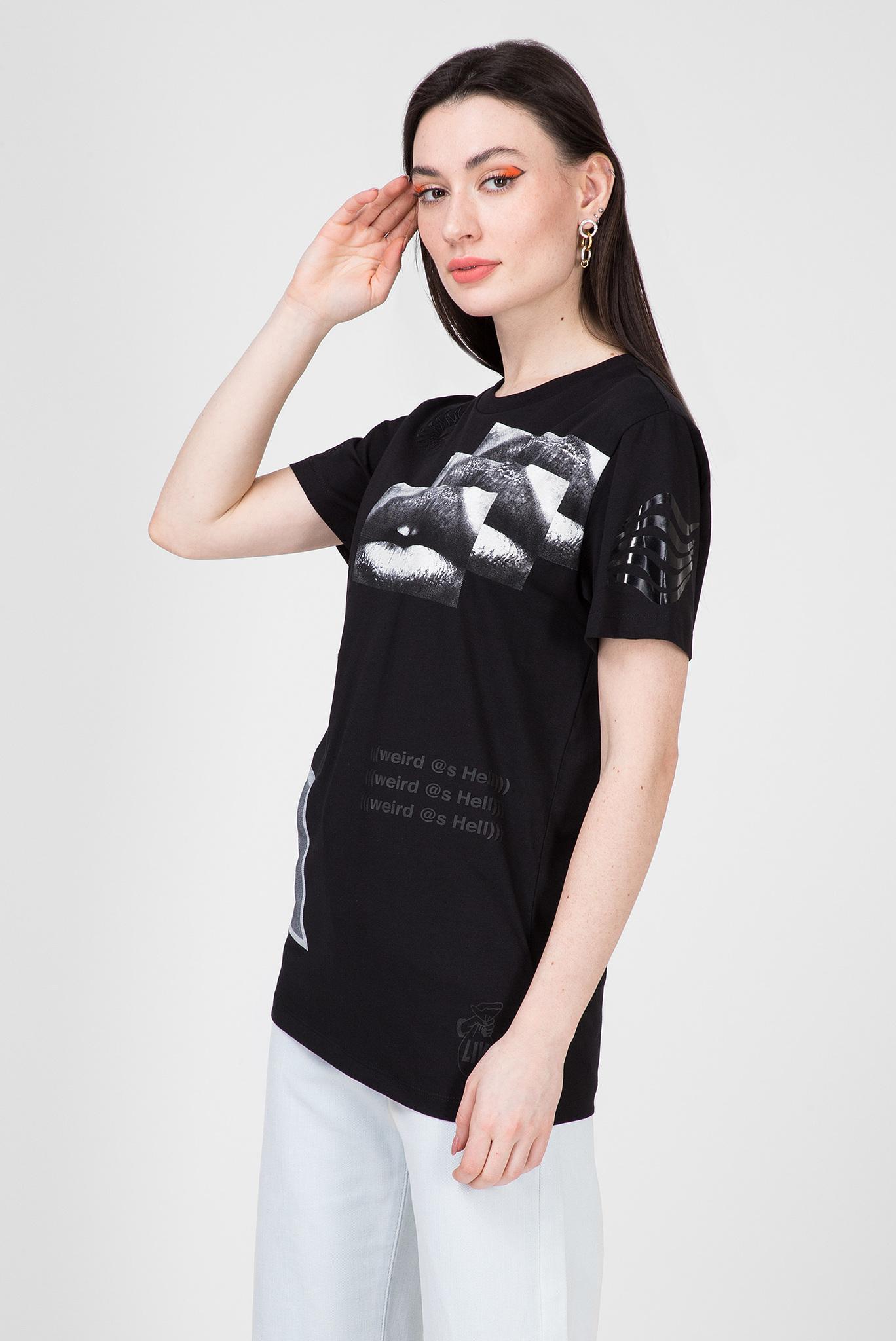 Женская черная футболка T-DARIA-S1 Diesel