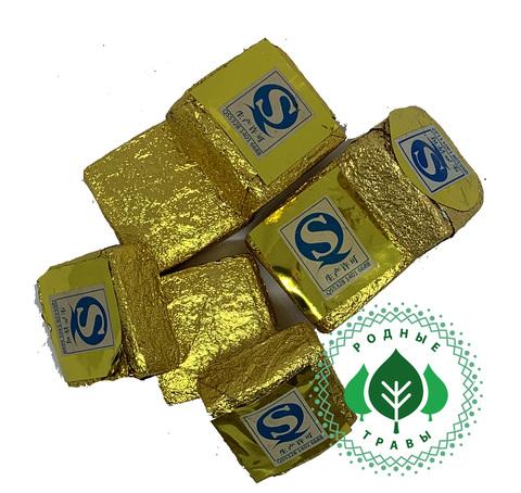 Элитный  чай Пуэр прессованный Золотой квадратик 7 лет