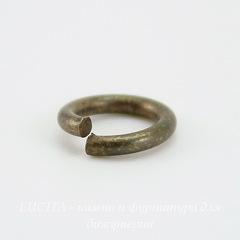 Винтажное колечко одинарное 8х1,5 мм (оксид латуни)