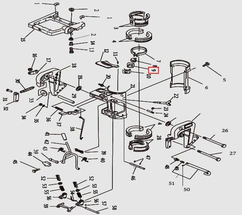 Хомут для лодочного мотора T9.8 Sea-PRO (11-9)