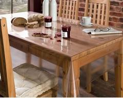 Скатерть прозрачная  защищает стол со всех сторон