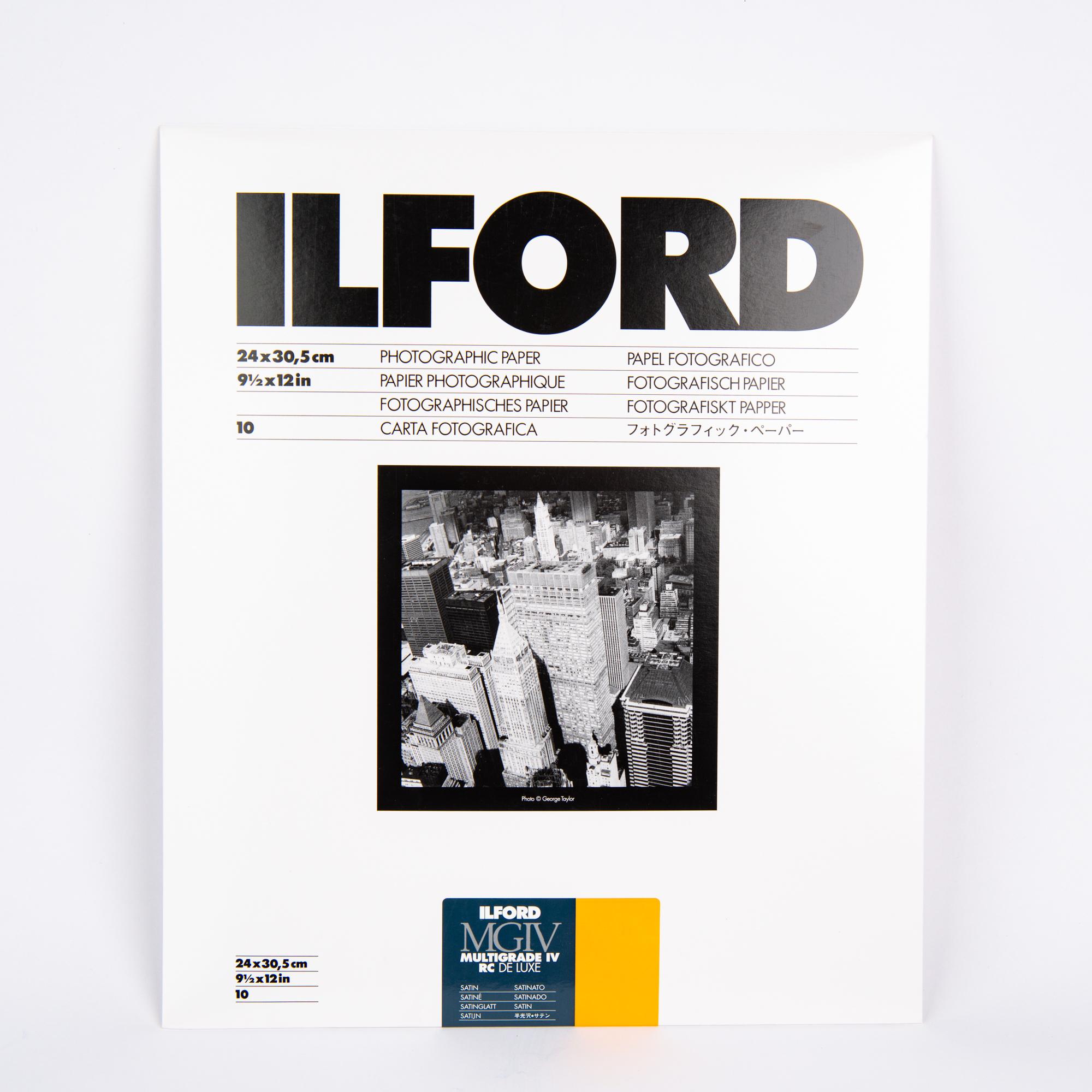 Фотобумага Ilford MG4RC25M, 24 x 30,5 см, сатин, 10 листов