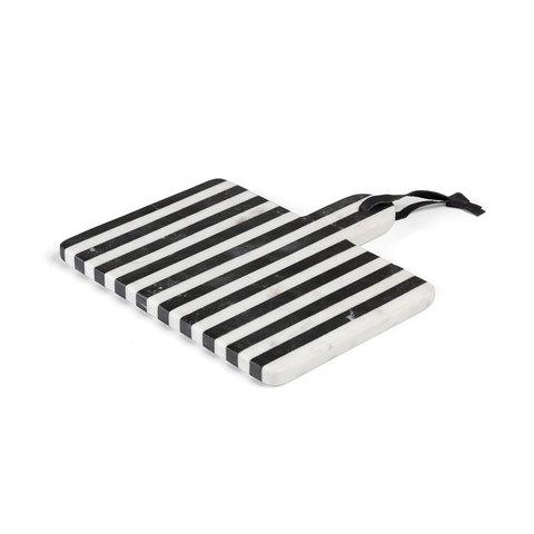 Доска разделочная Bergman черный и белый мрамор