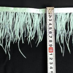 Купить оптом перья Страуса на ленте в интернет-магазине Azur голубые
