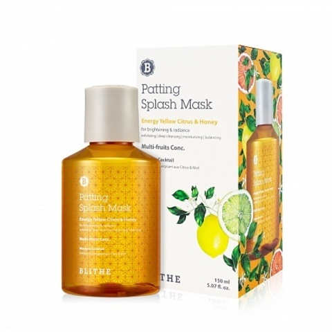 Сплэш-маска для сияния Blithe Energy Yellow Citrus&Honey Splash Mask 150 ml