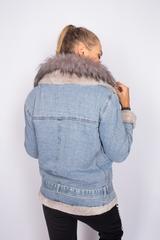джинсовая зимняя куртка женская магазин