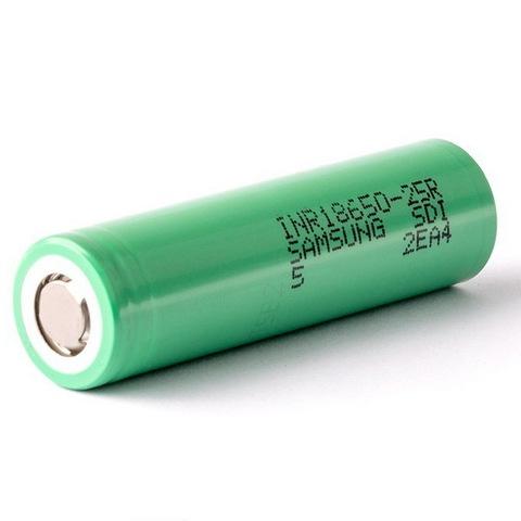 Аккумуляторы 18650 Samsung 2500mAh INR 25R (20A)
