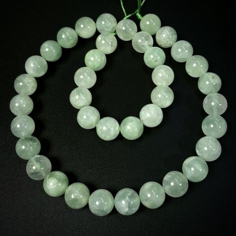 Бусины берилл зелёный АА шар гладкий 10 мм 19 бусин