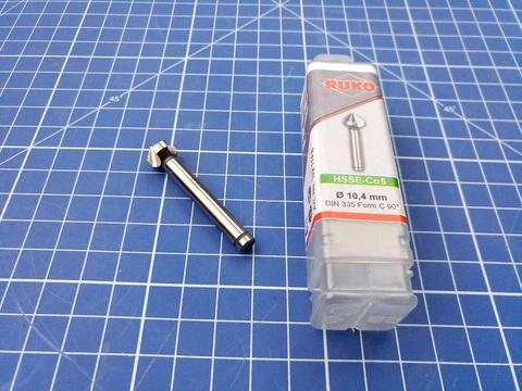 Зенковка ц/х 90° 10,4мм HSSE-Co5 3z DIN335C L50мм d6мм M5(BF) Ruko 102114E (В)