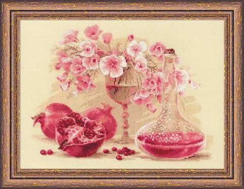Набор для вышивания крестом «Розовый гранат» (1618)