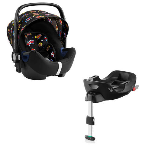 Автокресло Britax Roemer Baby-Safe2 i-Size Comic Fun + Base Flex Isofix