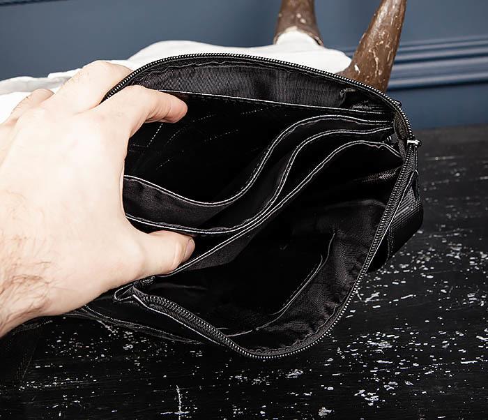 BAG559-1-4 Тонкая мужская сумка из искусственной кожи фото 08