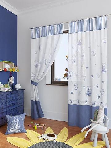 Комплект штор габардин Верталия синий