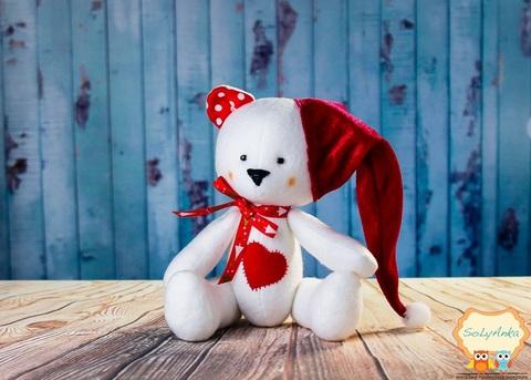 М'яка іграшка Різдвяний ведмедик