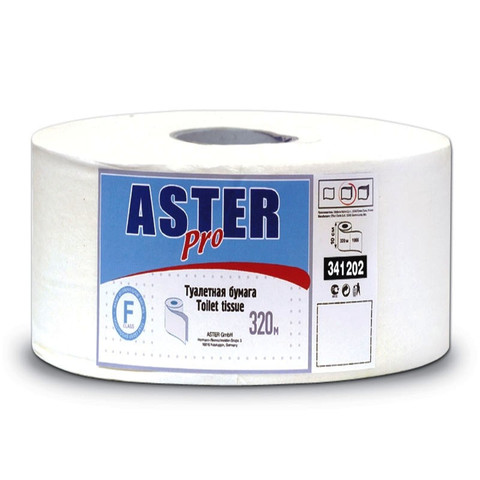 Бумага туалетная в рулонах Aster 2-слойная 6 рулонов по 320 метров (артикул производителя 341202)