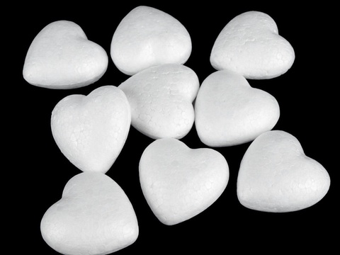 054-1631 Сердце из пенопласта (3 шт.) 6 см