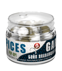 Бойлы насад. плав. двух цв. Sonik Baits SPICES-GARLIC Fluo Pop-ups 14мм 90мл
