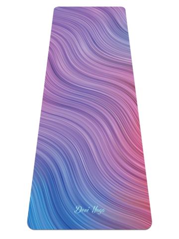 Коврик для йоги Волны 183*61*0,35 см из микрофибры и каучука