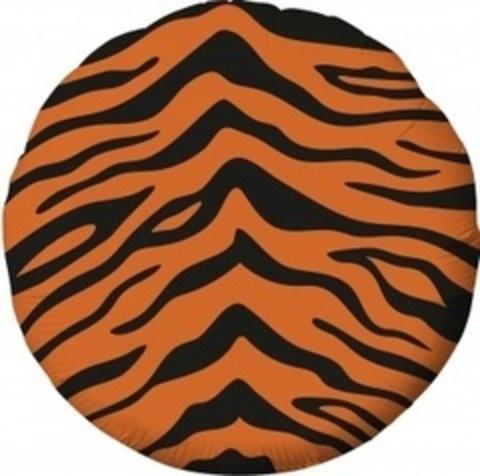 Р Круг 18''/46 см , Анималистика, Пятнистый окрас, Тигр, 1 шт.