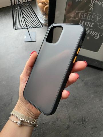 Чехол iPhone 12 /5,4''/ Gingle series /black orange/
