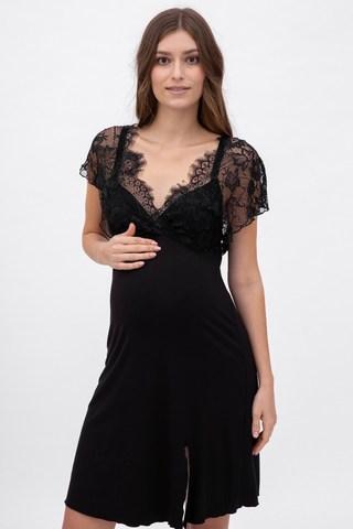 Ночная сорочка для беременных и кормящих 11032 чёрный