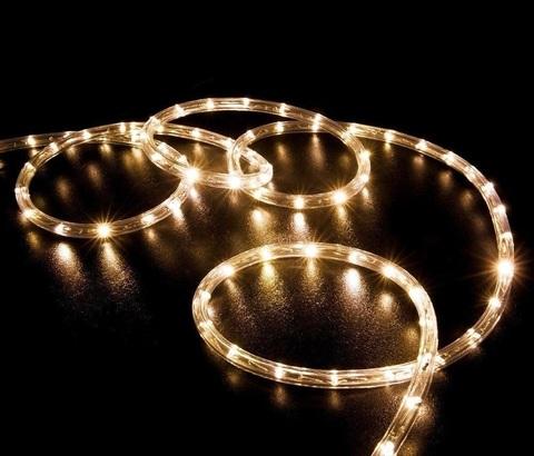 Гирлянда светодиодная новогодняя теплый белый цвет 100 метров LED