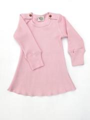 Платье с длинными рукавами ManyMonths, Нежно-розовый (шерсть мериноса 100%)