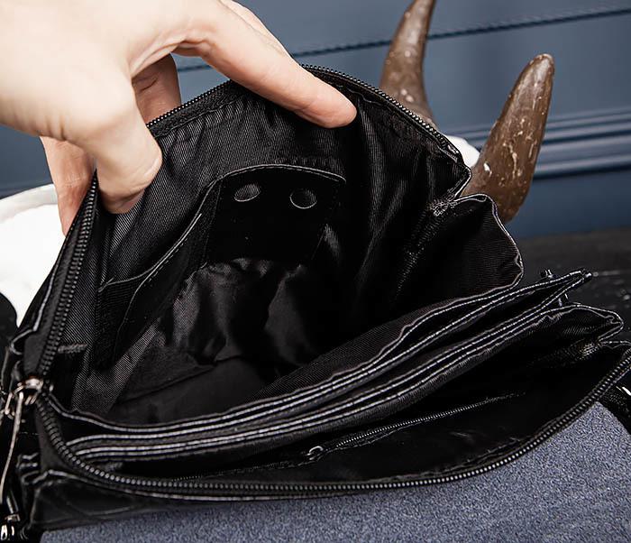 BAG559-1-4 Тонкая мужская сумка из искусственной кожи фото 10